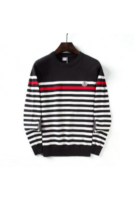 2018 Moncler Sweater For Men 162540 Black White Dark Blue White Gray White