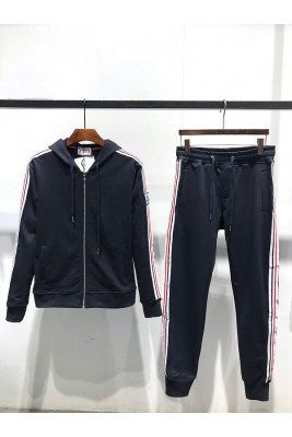 2018 Moncler Tracksuit For Men 162603 Dark Blue Black