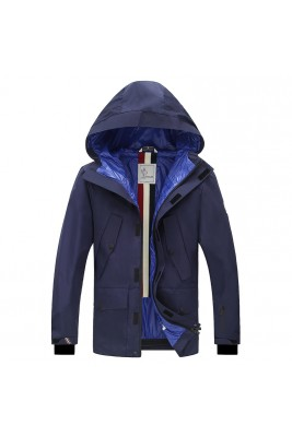 2018 Moncler Jackets For Men 162615 Black White Blue
