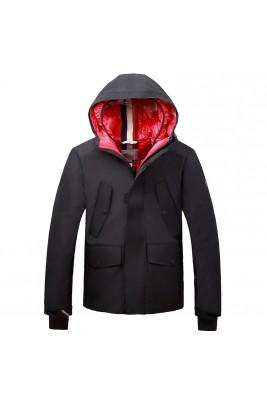 2018 Moncler Jackets For Men 162651 Black Beige