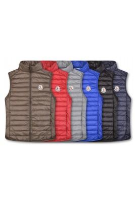 2018 Moncler Vests For Men 162922 Black Gray Red Blue Brown Dark Blue