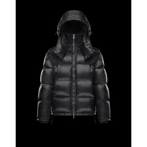 2017 New Style Moncler Maya Winter Down Jacket Mens Zip Black