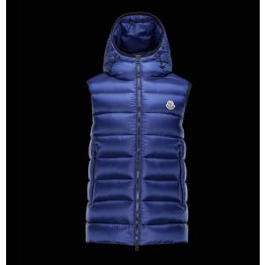 2017 New Style Moncler Mens Dark Blue Down Vests