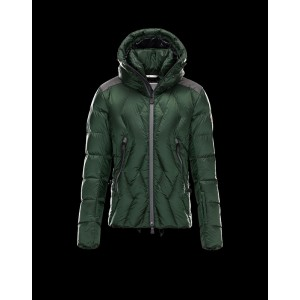 2017 New Style Moncler Down Style Jackets Men Zip Hooded Green