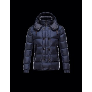 2017 New Style Moncler Fashion Mens Down Jackets Double Breasted Blue
