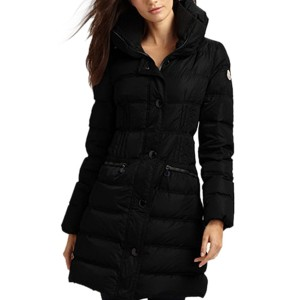 Moncler Fashion Leisure Women Down Coats Goose Long Black