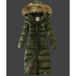 2016 Moncler Down Coat Featured Women Slim Windproof Army