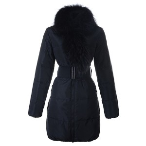 Moncler Lievre Womens Coat Designer Long Black