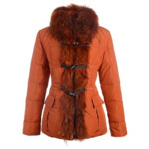 Moncler Grillon Fashion Jackets Women Down Orange