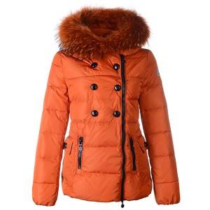 Moncler Herisson Fashion Womens Jacket Short Orange