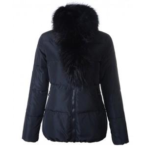 Moncler Lievre Classic Women Down Jackets Black Short