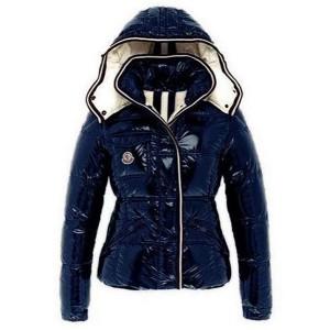 Moncler Quincy Classic Down Jackets For Women Button Blue