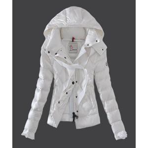 2016 Moncler Fashion Leisure Womens Down Jackets White
