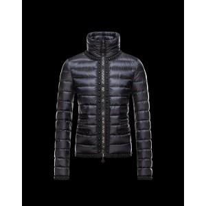 2016 Moncler Fluette Winter Womens Jacket Zip Collar Black