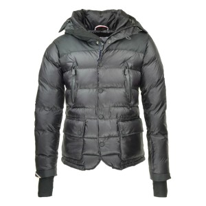 2016 Moncler Bataillouse Men Down Jackets Zip Button Black