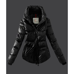 2016 Moncler Top Quality Womens Down Jackets Zip Black