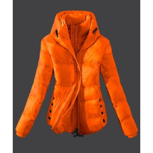 2016 Moncler Top Quality Womens Down Jackets Zip Yellow