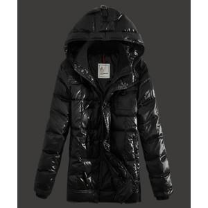 2016 Moncler Virgile Mens Down Jackets Hooded Black