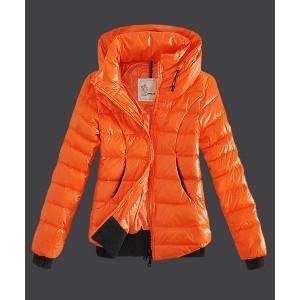 2016 Moncler Winter Jackets Womens Zip Stand Collar Yellow