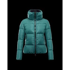2016 Moncler CHERY Jacket For Women Zip Collar Green