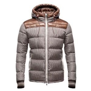 Moncler Eusebe Fashion Mens Jacket Down Short Brown