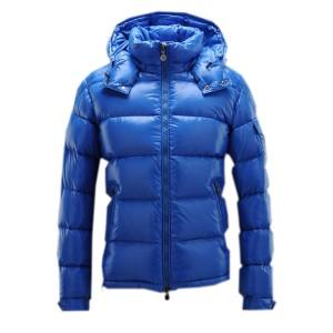 Moncler Maya Winter Mens Down Jacket Fabric Smooth Blue