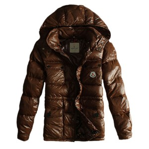 Moncler Men Jacket Design Multi Pockets With Cap Coffee