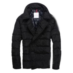 Moncler Top Quality Down Jacket Handsome Men Button Black