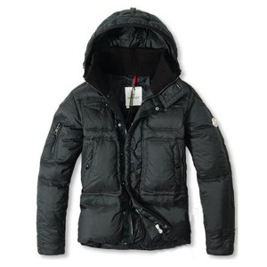 Moncler Top Quality Down Jackets Men With Hooded Zip Black