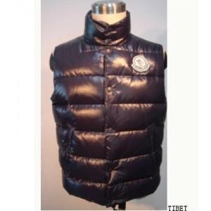 Moncler Down Vest Men Quilted Body Warmer Deep Blue