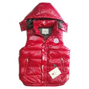 Moncler Lovers Of Men Vest Sleeveless Single-Breasted Red