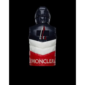 2018 Moncler Vests For Men 163019 Blue Red