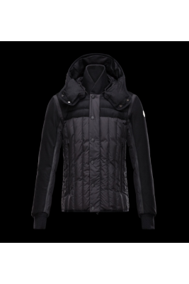 2017 New Style Moncler Men Down Jackets Single Breasted Black