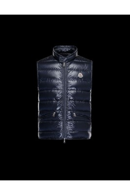 2017 New Style Moncler Unisex Down Vests Zip Navy