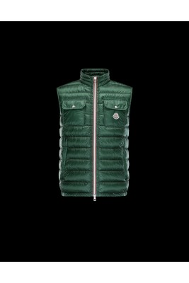 2017 New Style Moncler Unisex Down Vests Zip Green