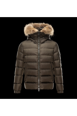 2017 New Style Moncler Down Jackets Mens Brief Paragraph Brown
