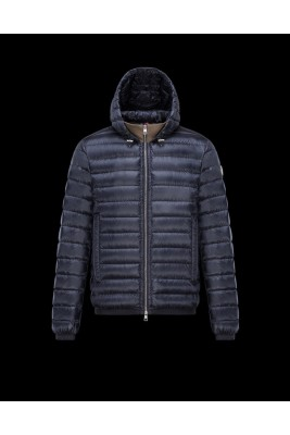2017 New Style Moncler Down Jackets For Men Zip Blue