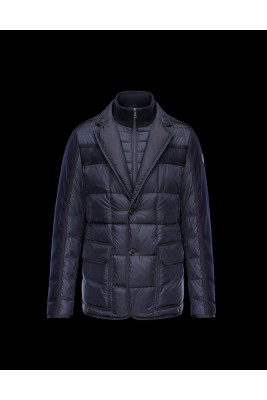 2017 New Style Moncler Mens Jacket Down Breasted Style Classic Navy