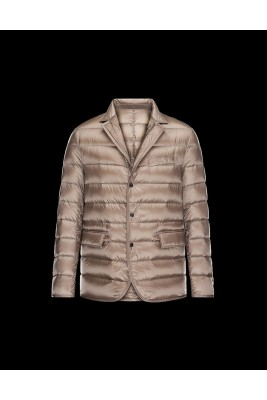 2017 New Style Moncler Mens Jacket Down Breasted Style Classic Apricot