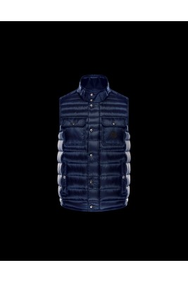 2017 New Style Moncler Mens Blue Down Vests