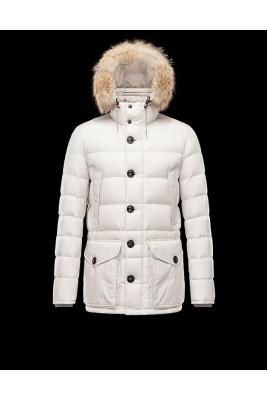 2017 New Style Moncler Mens Montgenevre Winter Down Jackets Creamy White