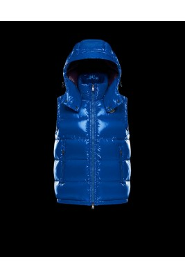 2017 New Style Moncler Maya Winter Mens Down Vests Fabric Smooth Dark Blue