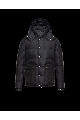 2017 New Style Moncler Cesar Down Mens Jackets Fashion Dark Black