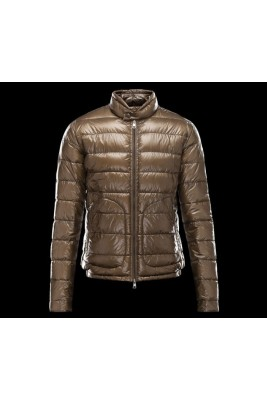 2017 New Style Moncler Winter Mens Down Jackets Stand Collar Brown