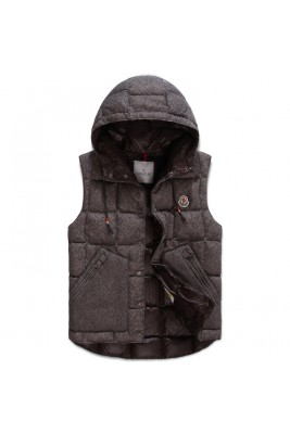 2017 New Style Moncler Men Vest Sleeveless Single Breasted Deep Grey