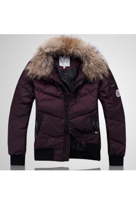 2017 New Style Moncler Down Jackets Handsome Men Claret
