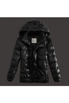 2017 New Style Moncler Mens Down Jackets Zip Black