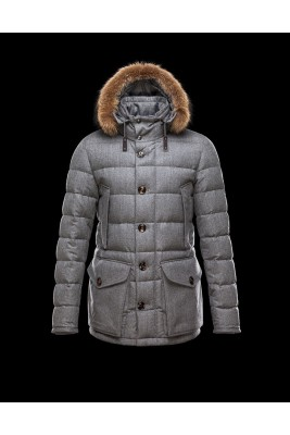 2017 New Style Moncler Down Jackets Handsome Men Grey