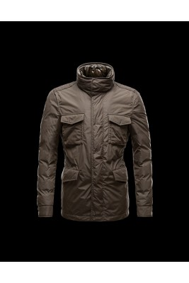 2017 New Style Moncler Mens Down Jackets Multi Pocket Brown