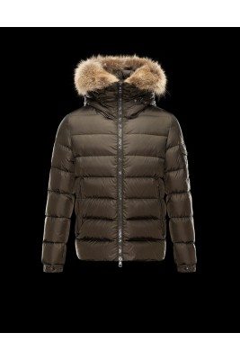 2017 New Style Moncler Fashion Mens Down Jackets Zip Brown
